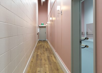 Hallways to Studio A and C